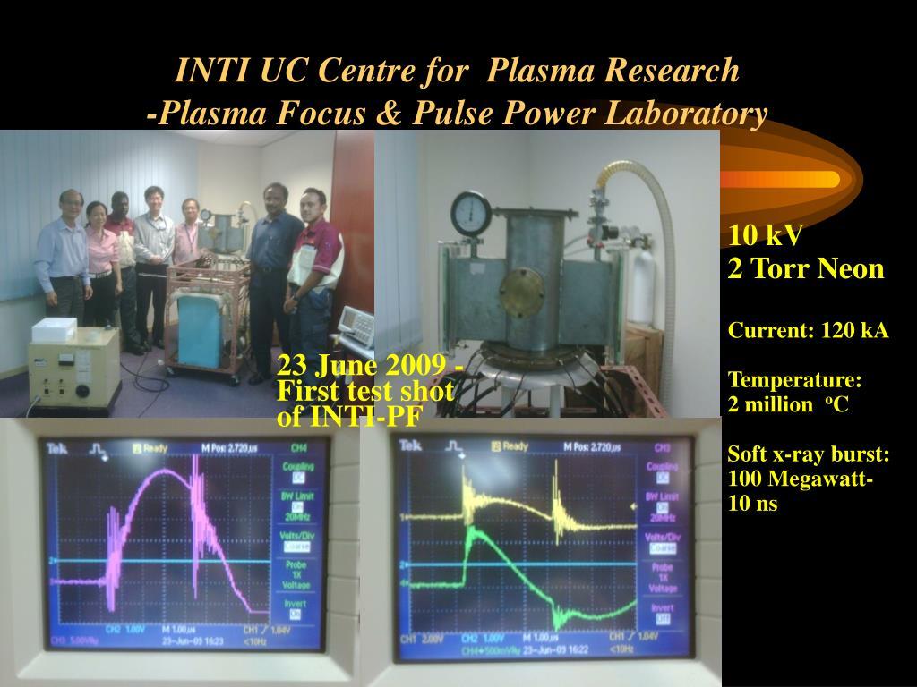 INTI UC Centre for  Plasma Research