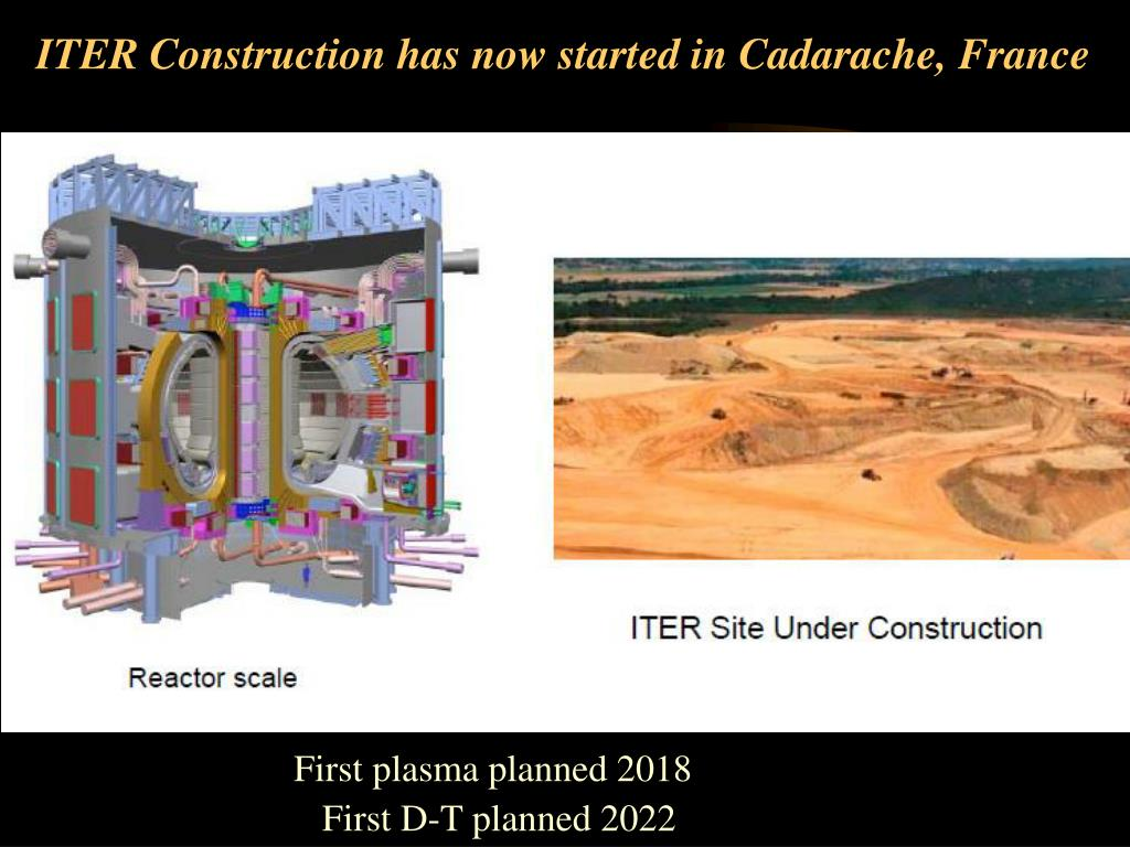 ITER Construction has now started in Cadarache, France