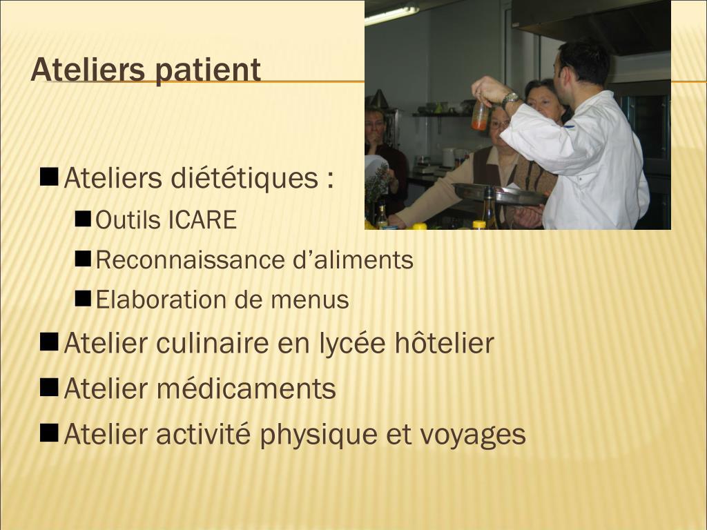 Ateliers patient