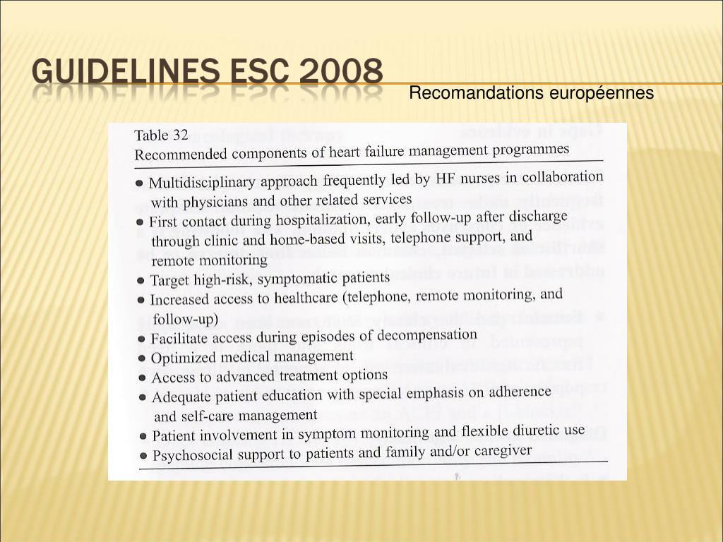 Recomandations européennes