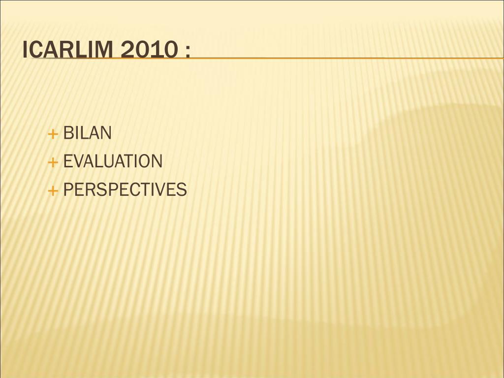 ICARLIM 2010 :