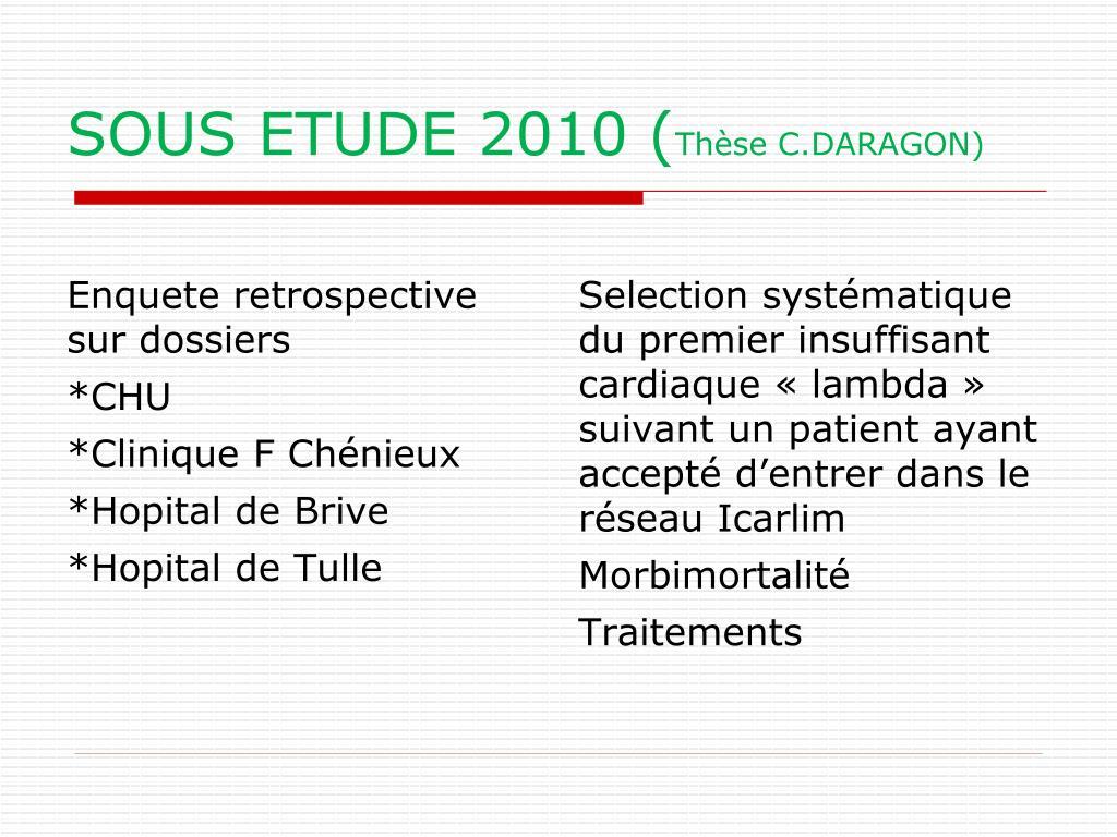 SOUS ETUDE 2010 (