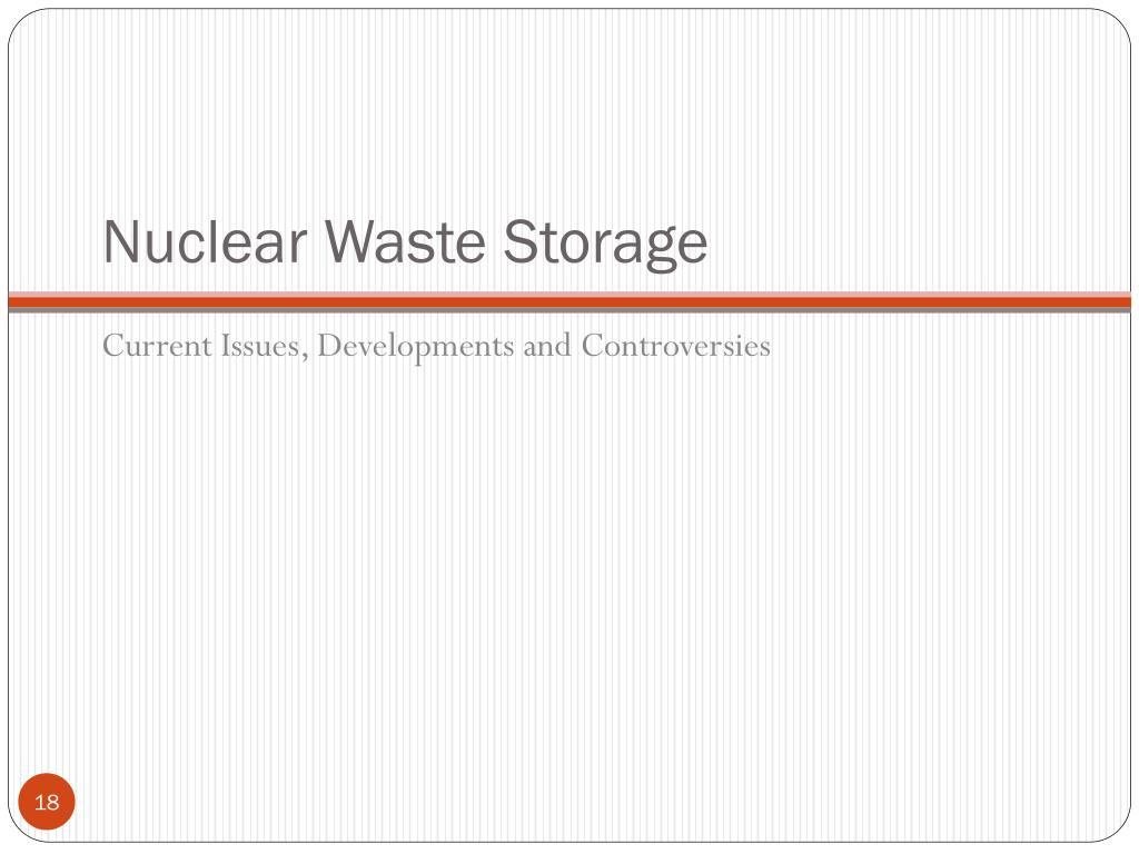 Nuclear Waste Storage