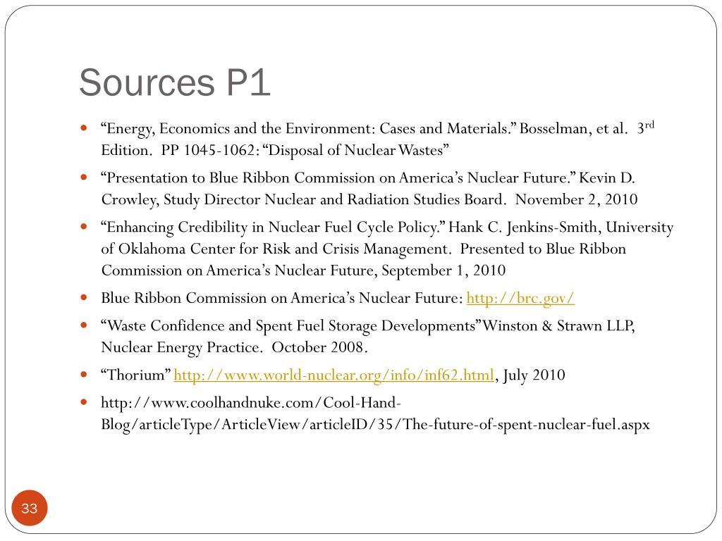Sources P1