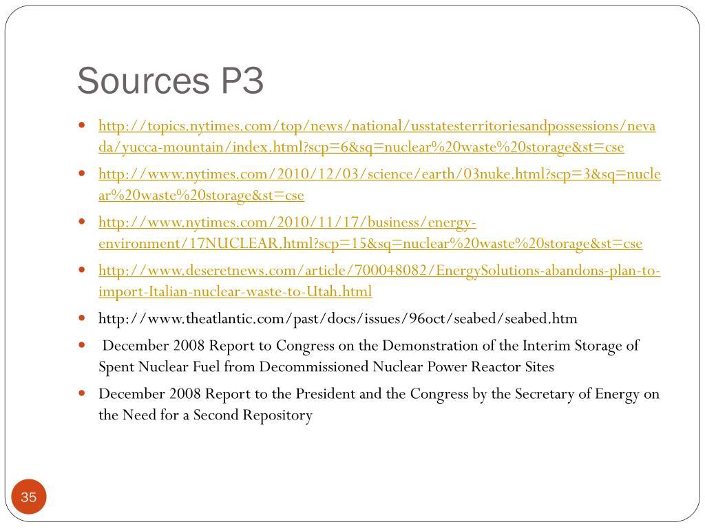 Sources P3