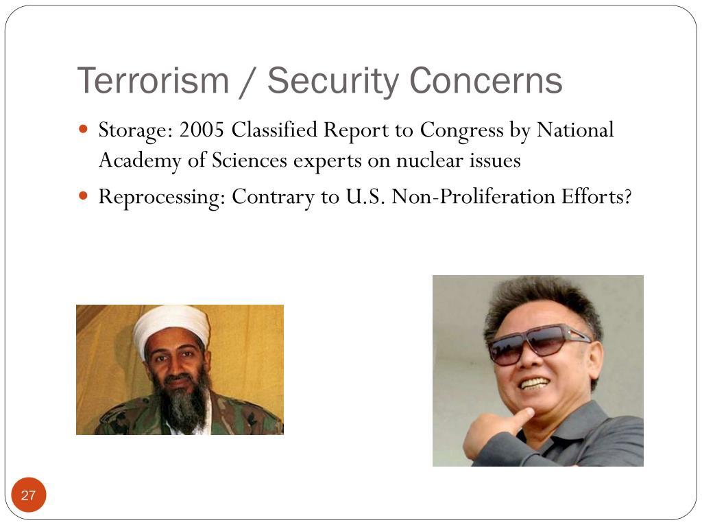 Terrorism / Security Concerns