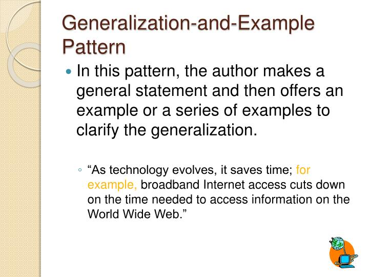 Generalization-and-Example Pattern