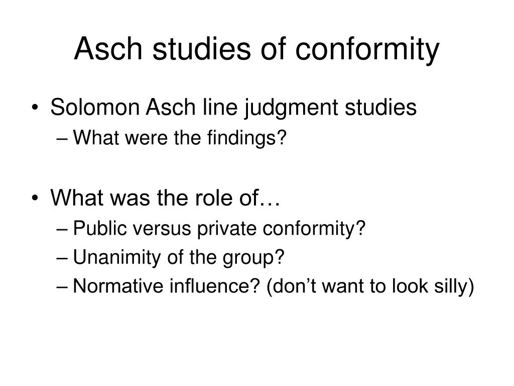 conformity research Social psychology paper on conformity home personal narrative bis degree concentration areas academic action plan key skills resume references the results of the experiment support asch's past research regarding conformity and normative influence.