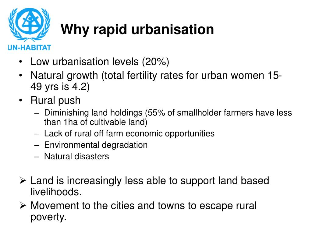 Why rapid urbanisation