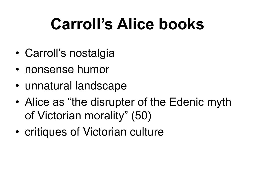 Carroll's Alice books