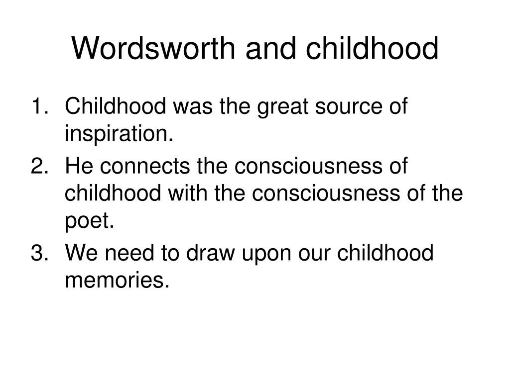 Wordsworth and childhood