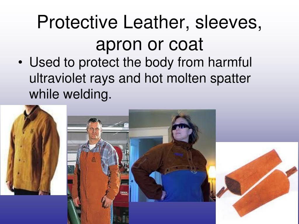 Protective Leather, sleeves, apron or coat