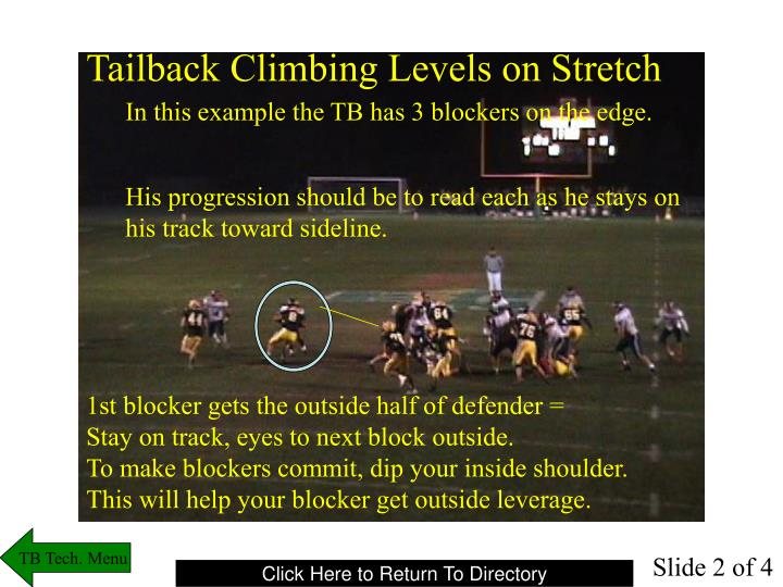 Tailback Climbing Levels on Stretch