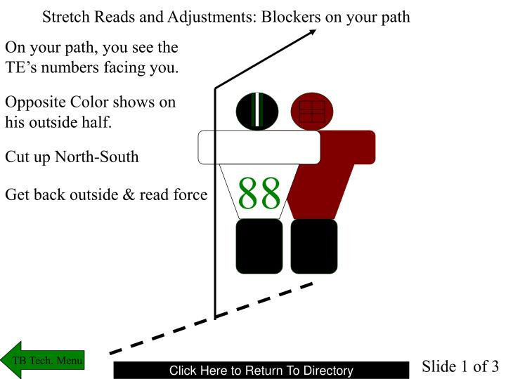 Stretch Reads and Adjustments: Blockers on your path