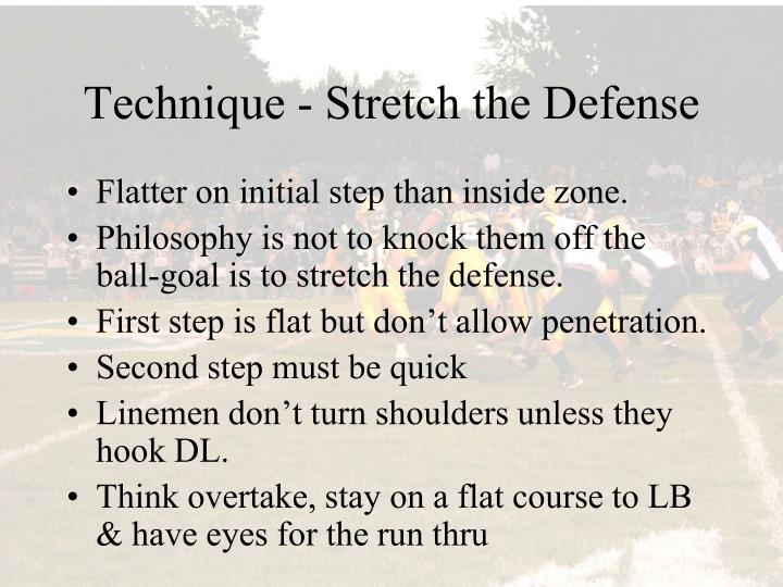 Technique - Stretch the Defense