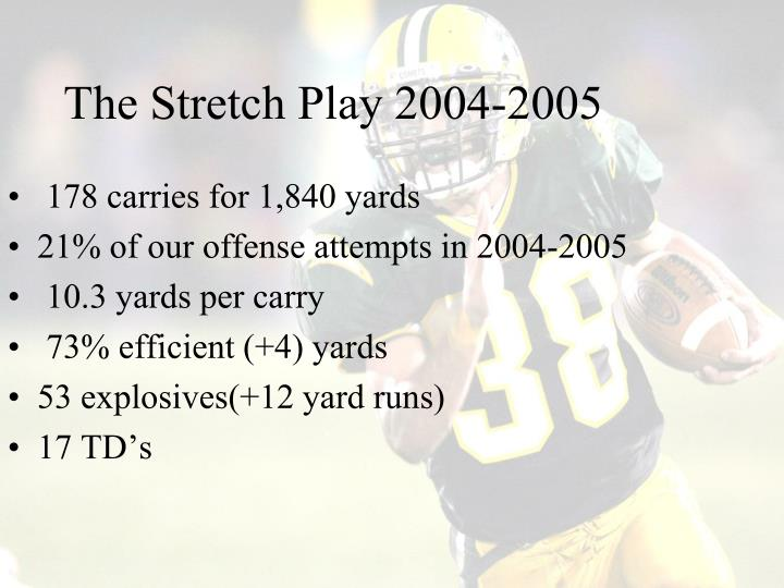 The Stretch Play 2004-2005