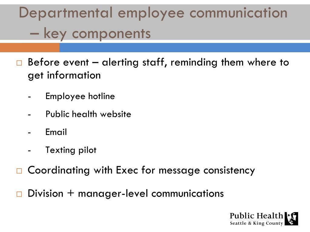 Before event – alerting staff, reminding them where to get information