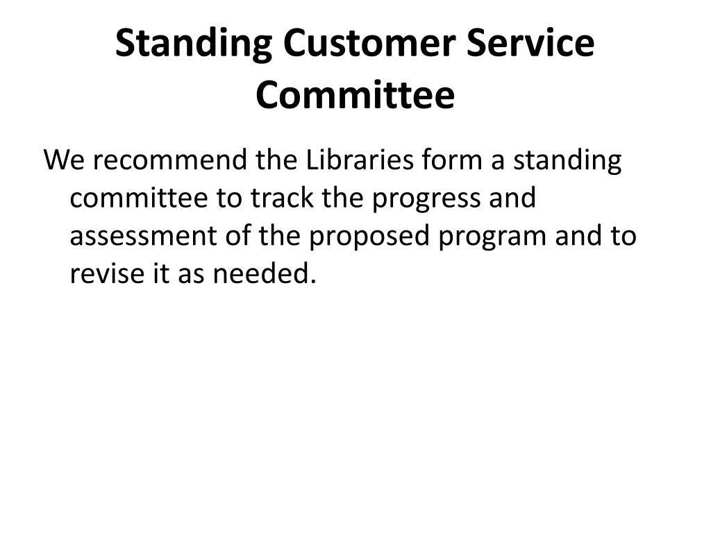 Standing Customer Service Committee