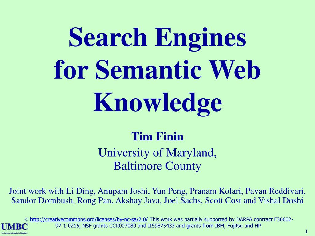 search engines for semantic web knowledge