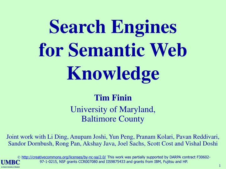 Search engines for semantic web knowledge l.jpg