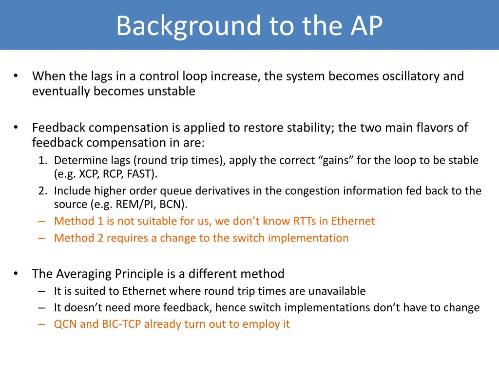 Background to the AP