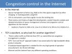 congestion control in the internet