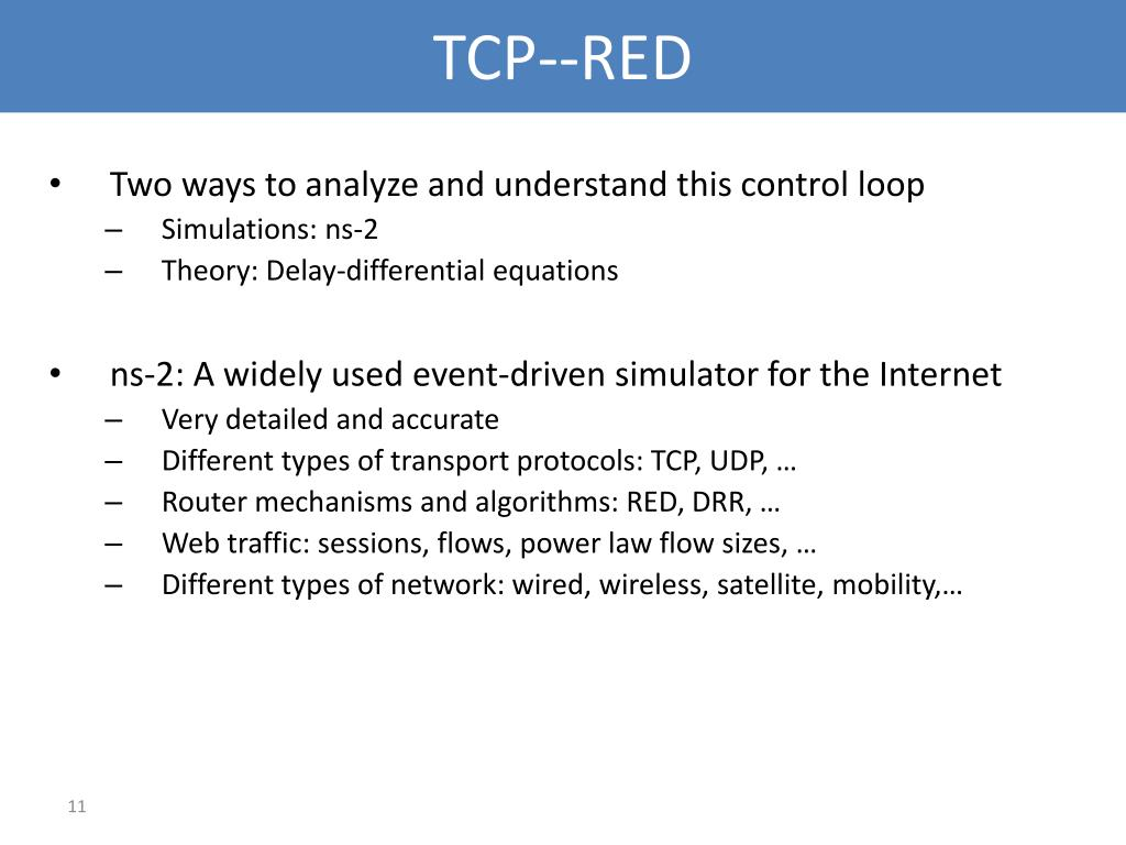TCP--RED