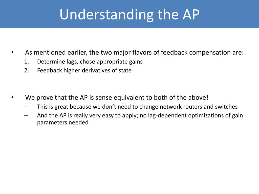 Understanding the AP