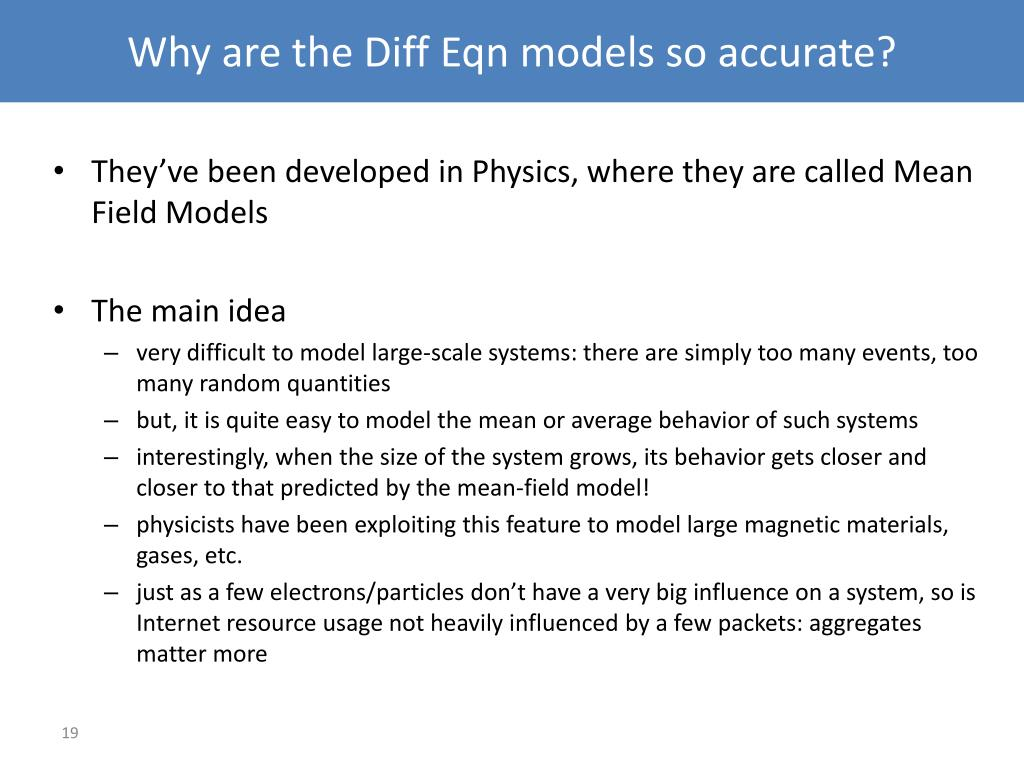 Why are the Diff Eqn models so accurate?