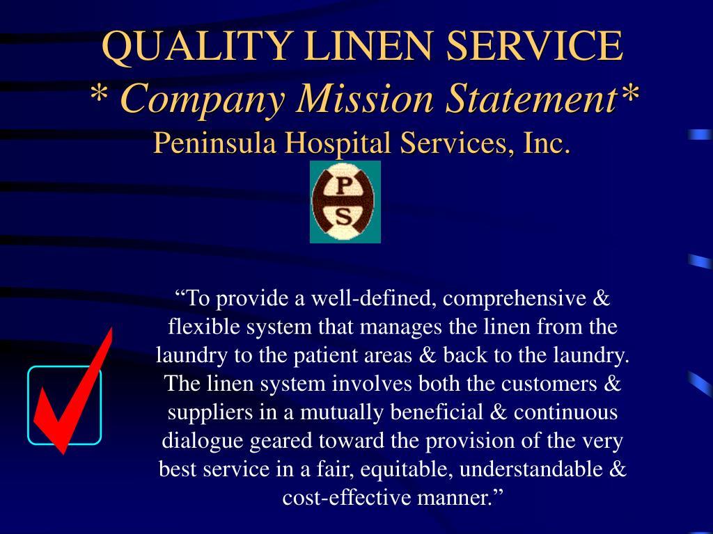 QUALITY LINEN SERVICE
