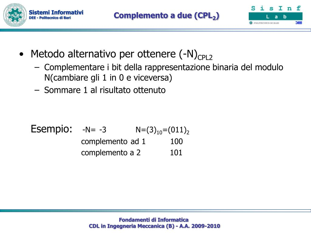 Complemento a due (CPL