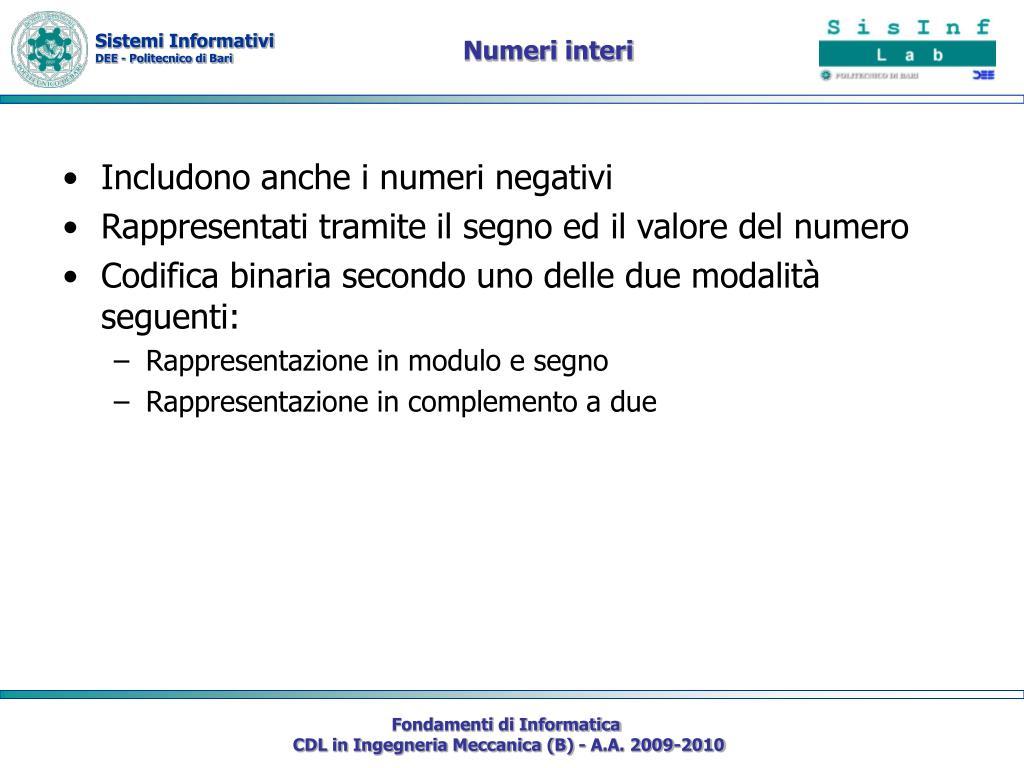 Numeri interi