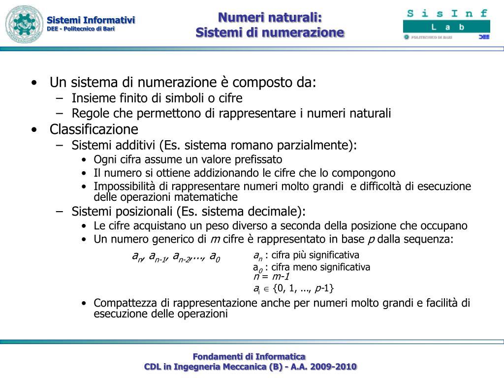 Numeri naturali: