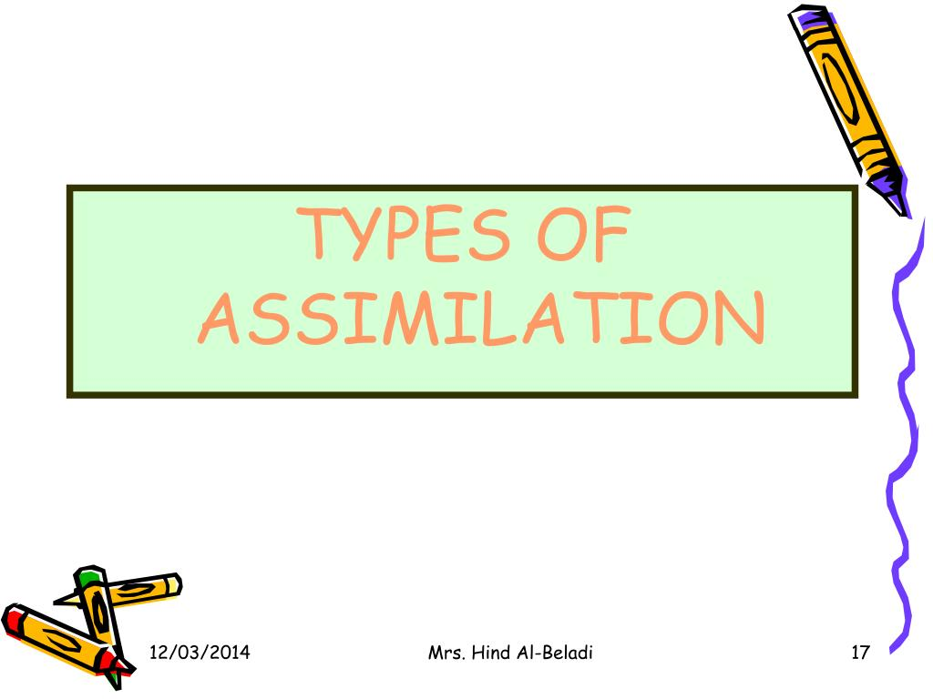 TYPES OF ASSIMILATION