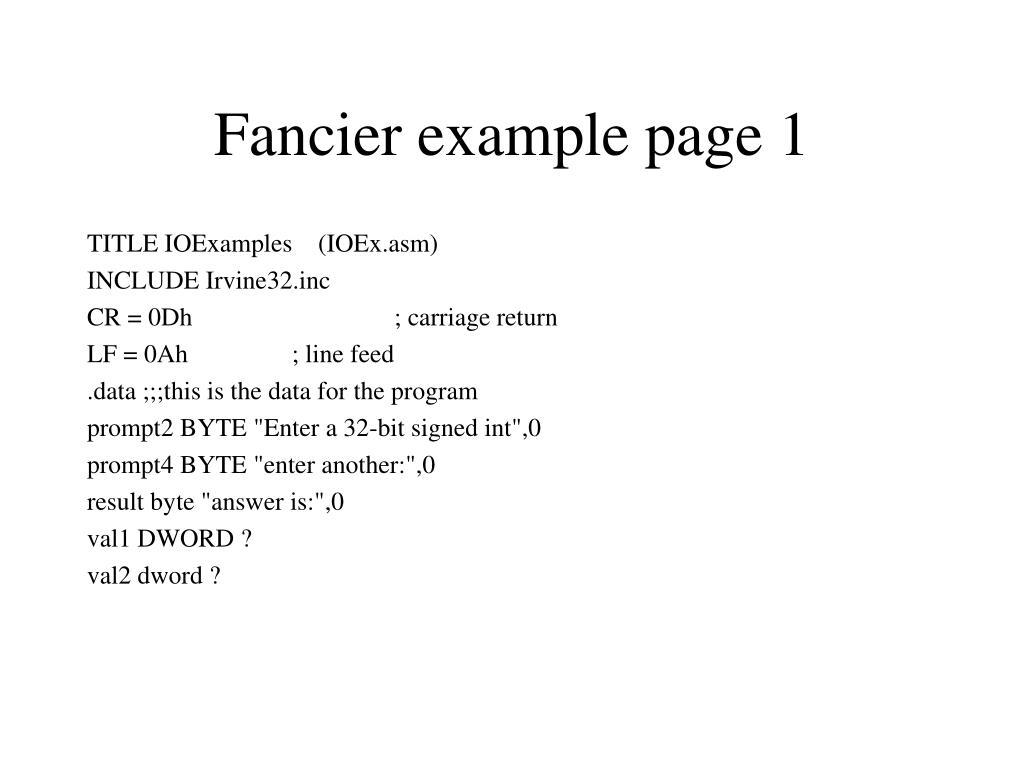 Fancier example page 1