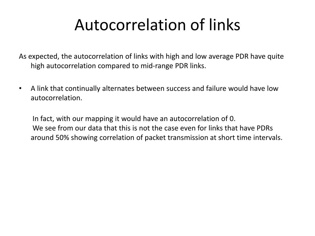 Autocorrelation of links