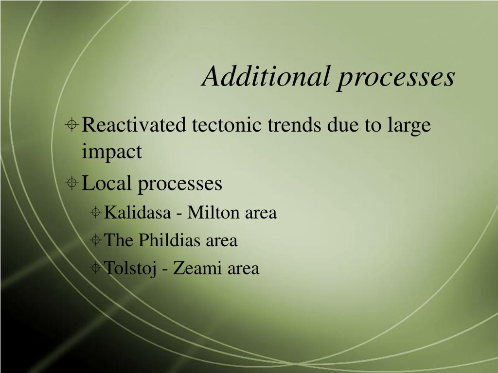 Additional processes