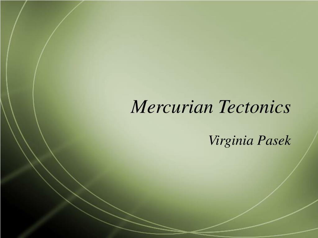 Mercurian Tectonics