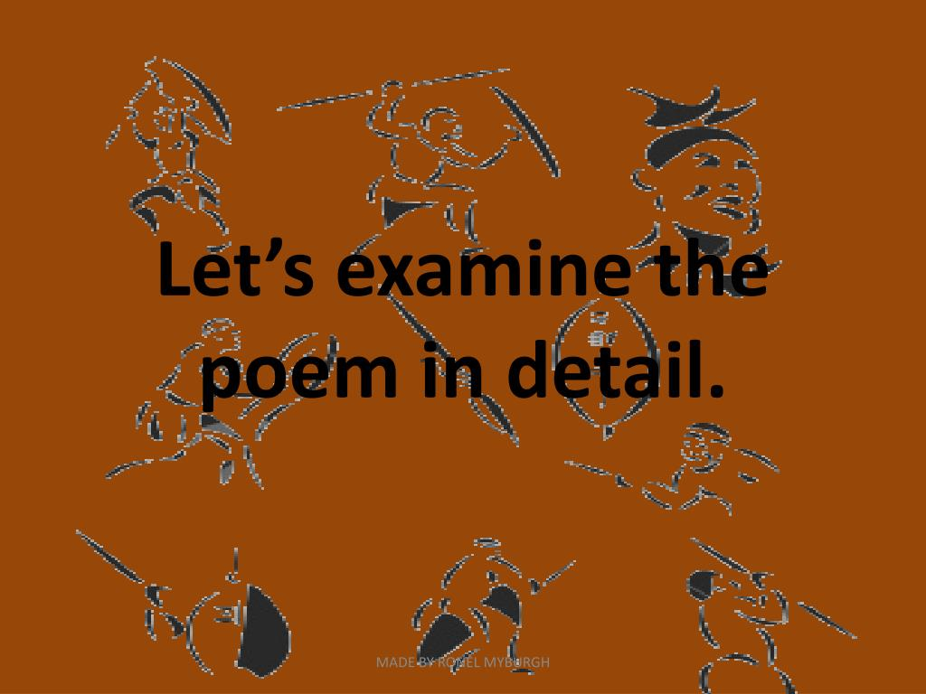 Let's examine the poem in detail.