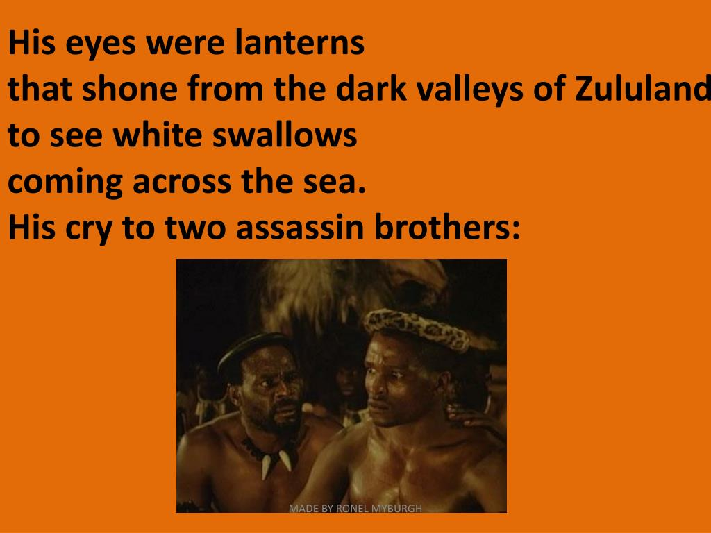 His eyes were lanterns