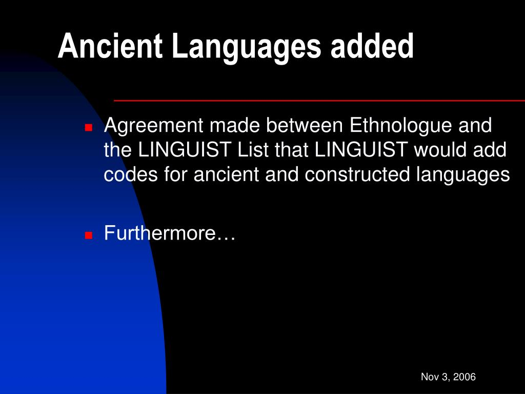 Ancient Languages added