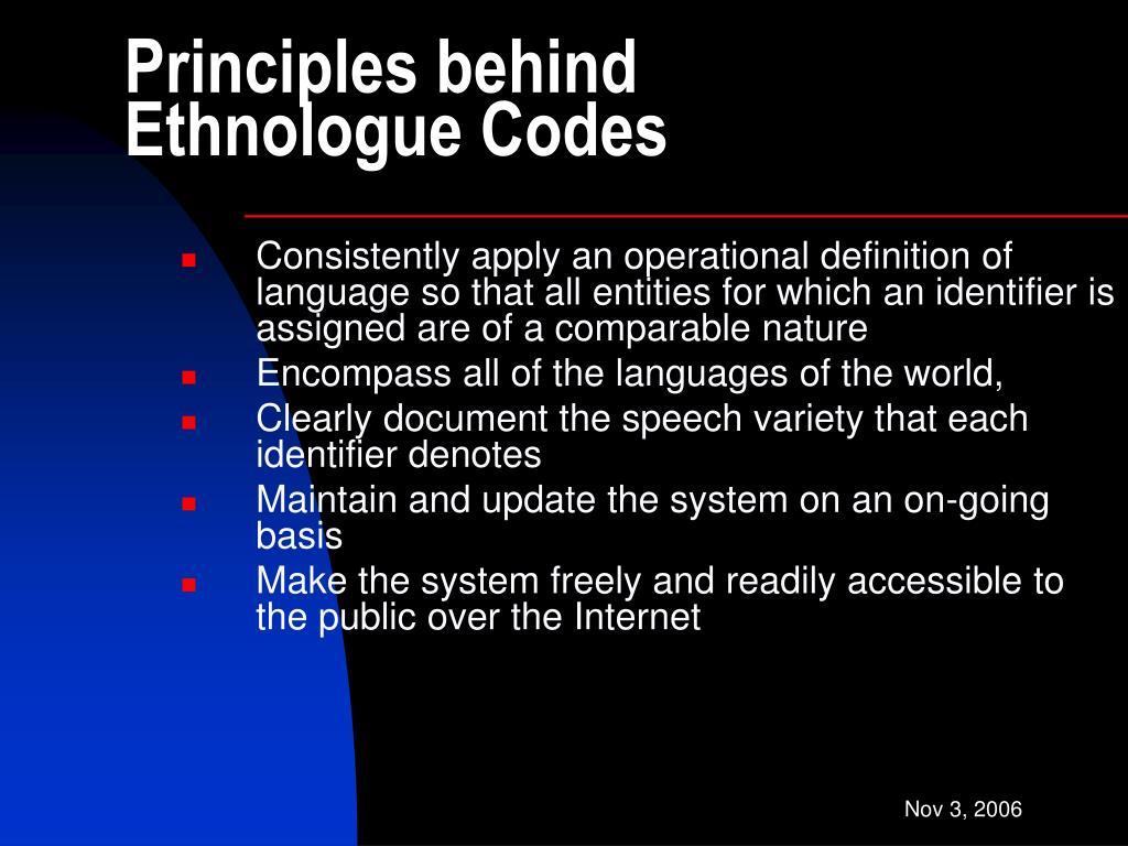 Principles behind