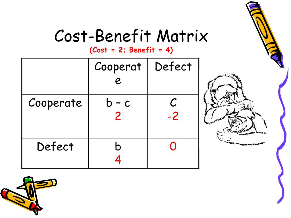 Cost-Benefit Matrix