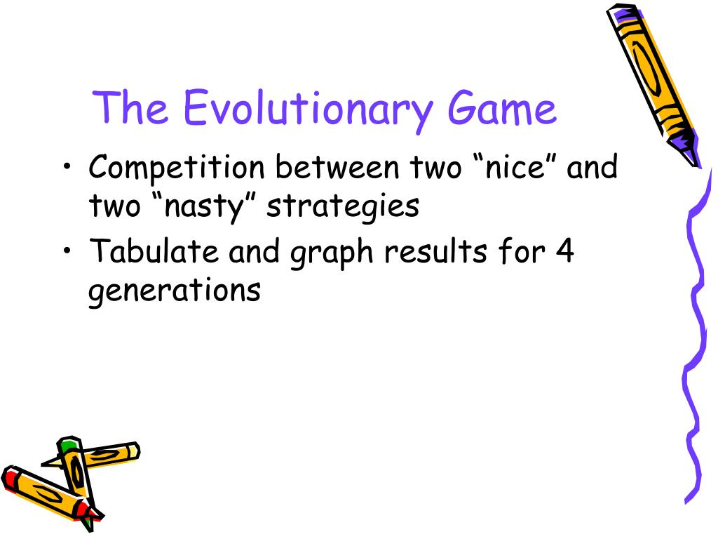 The Evolutionary Game
