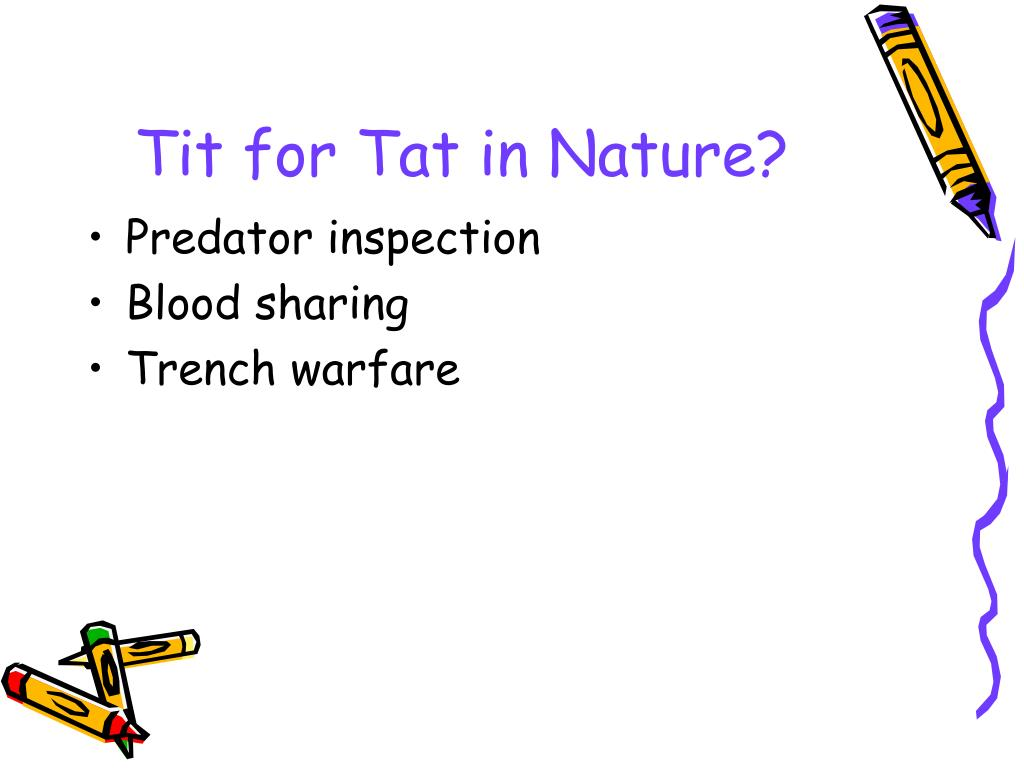 Tit for Tat in Nature?