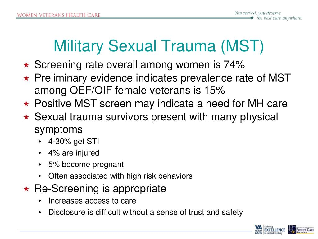 Trauma sexual militar va