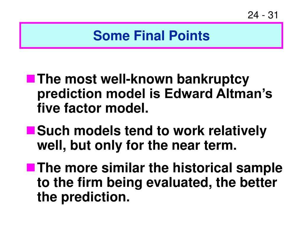 Some Final Points