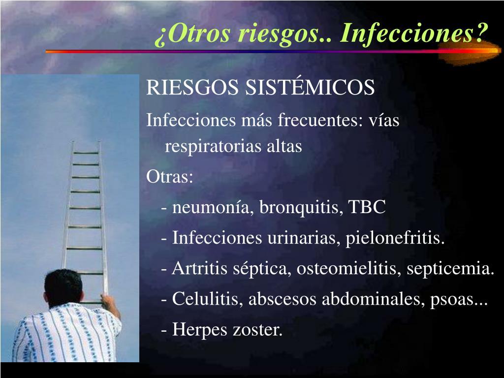 ¿Otros riesgos.. Infecciones?