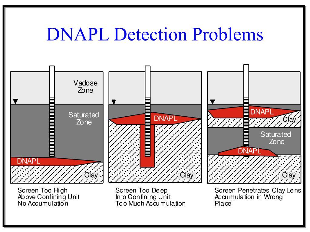 DNAPL Detection Problems