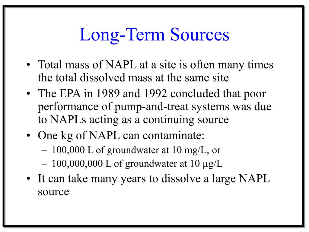 Long-Term Sources